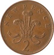 2 nouveaux pence Elizabeth II (2e effigie) -  revers