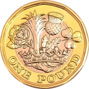 1 pound Elizabeth II (5e effigie) -  revers