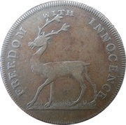 ½ Penny (Hampshire - Freedom with innocence / Rule Britannia) – avers