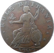 ½ Penny (Hampshire - Freedom with innocence / Rule Britannia) – revers