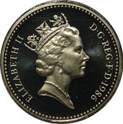 1 livre Elizabeth II (3e effigie, lin nord-irlandais, laiton) -  avers