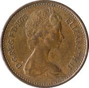 ½ nouveau penny Elizabeth II (2e portrait) -  avers