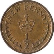 ½ nouveau penny Elizabeth II (2e portrait) -  revers