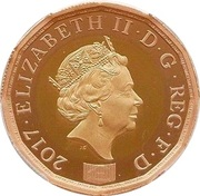 1 Pound - Elizabeth II (Nations of the Crown; Gold Proof) -  avers