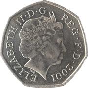 50 pence Elizabeth II (4e effigie, type Britannia) -  avers