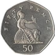 50 pence Elizabeth II (4e effigie, type Britannia) -  revers