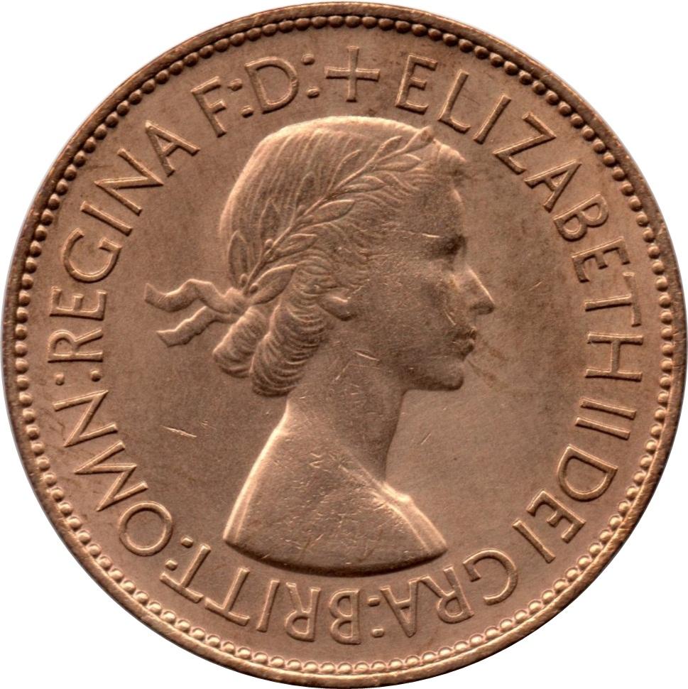 1 penny elizabeth ii 1 re effigie avec britt omn royaume uni numista. Black Bedroom Furniture Sets. Home Design Ideas