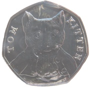50 Pence - Elizabeth II (Tom Kitten) -  revers