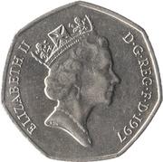 50 pence Elizabeth II (3e effigie, grand module) -  avers