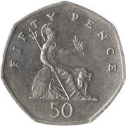 50 pence Elizabeth II (3e effigie, grand module) -  revers