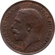 1 farthing George V (1ère effigie) – avers