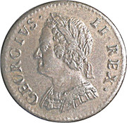1 farthing George II (2e effigie) – avers
