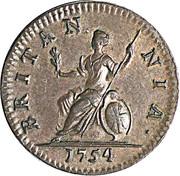 1 farthing George II (2e effigie) – revers