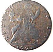 ½ Penny token George II (British Evasion) -  revers