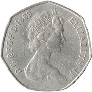 50 nouveaux pence Elizabeth II (2e effigie) -  avers
