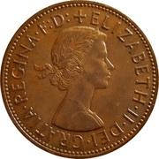 "1 penny Elizabeth II (1ère effigie, sans ""BRITT:OMN:"") -  avers"