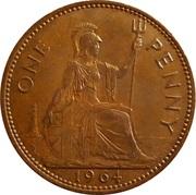 "1 penny Elizabeth II (1ère effigie, sans ""BRITT:OMN:"") -  revers"