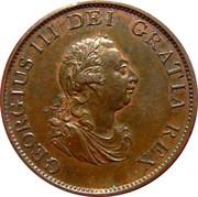 ½ penny George III (2e effigie, date sur le revers) – avers