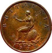 ½ penny George III (2e effigie, date sur le revers) – revers