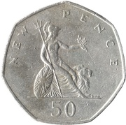 50 nouveaux pence Elizabeth II (2e effigie) -  revers