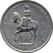 5 shillings Sacre d'Elizabeth II -  avers