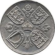 5 shillings Sacre d'Elizabeth II -  revers