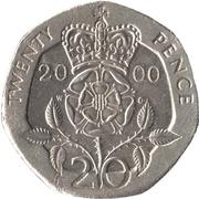 20 pence Elizabeth II (4e effigie, type rose) -  revers