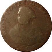 ½ Penny (Hampshire - West Cowes / T. Ayrton) – avers