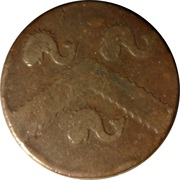 ½ Penny (Hampshire - West Cowes / T. Ayrton) – revers