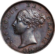 """½ penny Victoria (""""young head"""") – avers"""