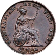"""½ penny Victoria (""""young head"""") – revers"""