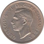 "½ couronne George VI (cupronickel, sans ""IND:IMP"") -  avers"