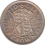 "½ couronne George VI (cupronickel, sans ""IND:IMP"") -  revers"