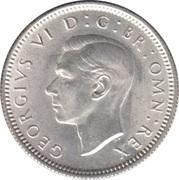 """6 pence George VI (avec """"·IND·IMP"""", argent) -  avers"""