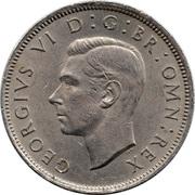 "2 shillings George VI (cupronickel, avec "":IND:IMP:"") -  avers"