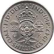 "2 shillings George VI (cupronickel, avec "":IND:IMP:"") -  revers"