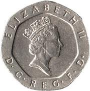 20 pence Elizabeth II (3e effigie, cupronickel) -  avers
