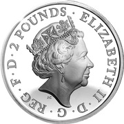2 Pounds - Elizabeth II -  avers