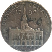 Webster's Dundee (County of Angus) Copper Conder Penny Token – avers
