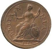 1 farthing George I (listel fin, cuivre) – revers
