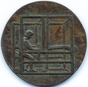 ½ Penny (Crewkerne Somerset Sparks and Gridley) – avers