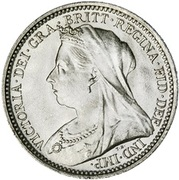 """3 pence Victoria (maundy coinage, """"old head"""") -  avers"""