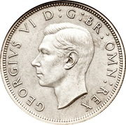 ½ couronne George VI (argent) -  avers
