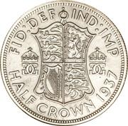 ½ couronne George VI (argent) -  revers