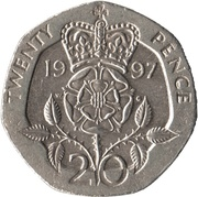 20 pence Elizabeth II (3e effigie, cupronickel) -  revers