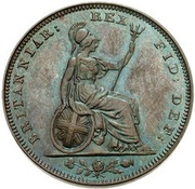 1 farthing George IV (date sur l'avers, cuivre) – revers