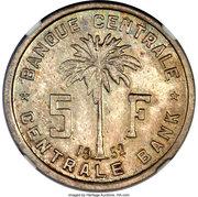 5 Francs (Essai) – revers