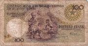 100 Francs Léopold II – revers