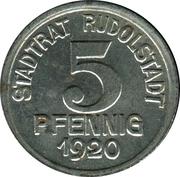 5 pfennig - Rudolstadt (Charlotte v. Schiller) – avers