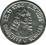 5 pfennig - Rudolstadt (Charlotte v. Schiller) – revers